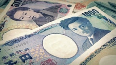 Japanese Yen Banknotes Rotating - stock footage