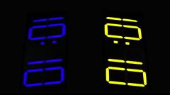 Digital numbers finance business data computer clock 4k Stock Footage