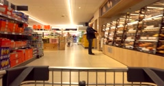 Shopping in supermarket. Time lapse Stock Footage