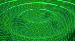 Green wireframe ripple. Stock Footage
