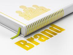 Marketing concept: book Business Team, Brand on white background Stock Illustration