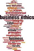 Business ethics word cloud Stock Illustration