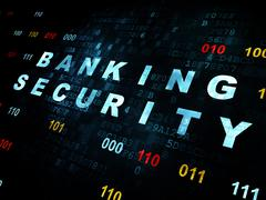 Protection concept: Banking Security on Digital background - stock illustration