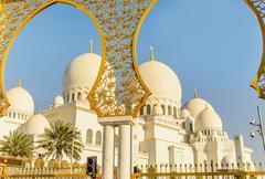 Sheikh Zayed Grand Mosque in Abu Dhabi, UAE - stock photo