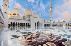 Sheikh Zayed Grand Mosque in Abu Dhabi, UAE - stock photo