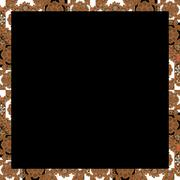 Black Background Frame with Decorated Borders - stock illustration