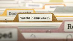 Talent Management on Business Folder in Catalog - stock illustration