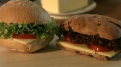 Fresh Homemade Rolls On Kitchen Counter 4K Stock Footage