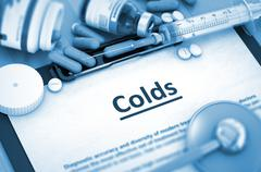 Colds. Medical Concept - stock illustration