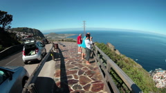 Beautiful view of cape with Garachico town. Tenerife Stock Footage