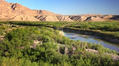 Rio Grande River in Big Bend National Park Stock Footage