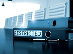 Restricted on Folder. Blurred Image Stock Illustration