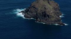 Small island Roque de Garachico. Tenerife, Canary, Spain  Stock Footage
