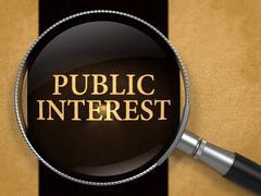 Public Interest Concept through Magnifier - stock illustration
