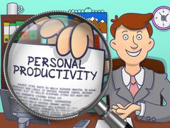 Personal Productivity through Lens. Doodle Design Stock Illustration