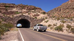 Tunnel in Big Bend National Park Stock Footage
