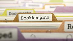 Bookkeeping - Folder Name in Directory - stock illustration