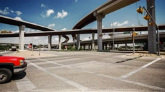 Austin, Texas City Traffic and Freeway - Time Lapse - stock footage