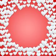 Stock Illustration of Red Valentines day background