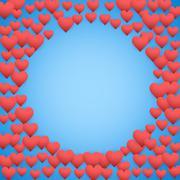 Blue Valentines day background Stock Illustration
