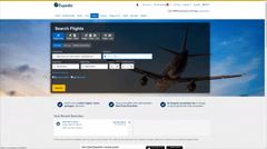 Look for plane tickets on website Stock Footage