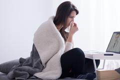 I'm afraid you have a flu Stock Photos