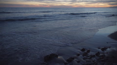 Evening tide at the beautiful Mesa Beach - stock footage