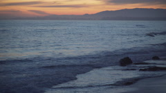 Waves rolling in at the beautiful Mesa Beach Stock Footage