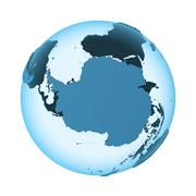 Antarctica on translucent Earth Stock Illustration