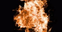 Motion Background VJ Loop - Orange Fire Particles 4k + Matte Stock Footage