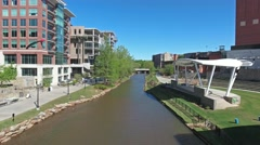 Downtown Greenville Reedy River Stock Footage