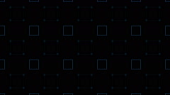 Squares on dark background Stock Footage