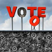 Stolen Vote Stock Illustration