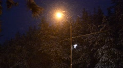street lamp in the snow - stock footage