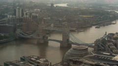 Timelapse london city skyline skyscrapers architecture tower bridge Stock Footage