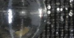 discoball disco club music party entertainment 4k - stock footage