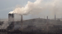 Air Pollution From Industrial Plants. Large Plant on the Background of the - stock footage