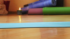 Yoga classes in hall Stock Footage