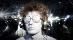 silver man gogo dancer diva party disco music 4k - stock footage