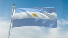 Argentinian flag in 4k - stock footage