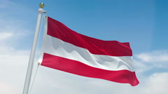 Austrian flag in 4k Stock Footage