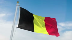 Belgium flag in 4k Stock Footage