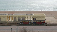 The Volk railway in Brighton, England Stock Footage