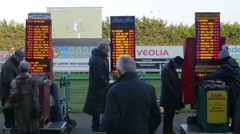 Bookmakers at the race course Stock Footage