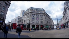 Oxford Circus in London at peak time - stock footage