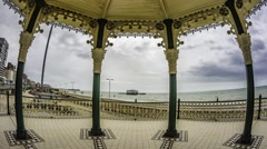 The Victorian bandstand in Brighton and Hove (UK) Stock Footage