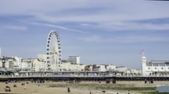 The Victorian Brighton Pier, also known as the Palace Pier Stock Footage
