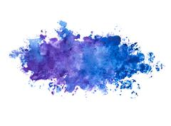 Abstract beautiful blue indigo color / violet watercolor painted background - stock photo