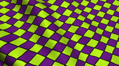 Yellow Purple Rhombus Pattern Fabric Cloth Material Texture Seamless Background - stock footage