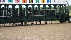 Horses from starting gate Stock Footage